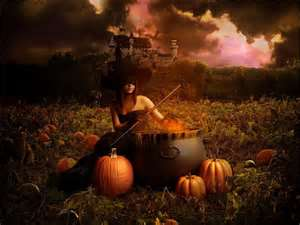 goth halloween witch