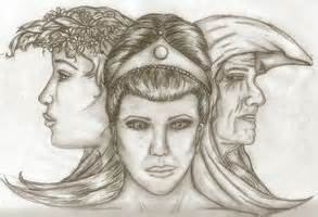 triple goddess drawing