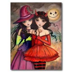 witch and devil